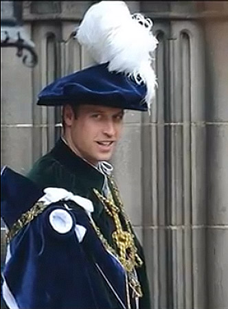 Order of the Thistle hat for the Duke of Cambridge
